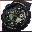 CASIO G-SHOCK カシオ Gショック アナデジモデル メンズ腕時計 ブラック/ゴールド 海外モデル GA-100GBX-1A9