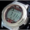 CITIZEN Q&Q シチズン キューアンドキュー メンズ腕時計 電波ソーラー ブラックラバーベルト MHS5-300 国内正規品