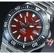 ORIENT M-FORCE オリエント エムフォース ダイバーズウォッチ メンズ腕時計 自動巻 ワインレッド文字盤 メタルベルト MADE IN JAPAN 海外モデル  SEL07002H0