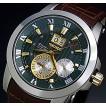 SEIKO / Premier セイコー / プルミエ ジョコビッチモデル キネテック メンズ腕時計 ブラウンレザーベルト グリーン文字盤 パーペチュアル SNP127P1 海外モデル