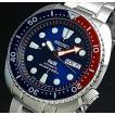 SEIKO PROSPEX セイコー プロスペックス ダイバーウォッチ 自動巻 メンズ腕時計 ネイビー/レッドベゼル ネイビー文字盤 MADE IN JAPAN 海外モデル SRPA21J1