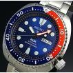 SEIKO PROSPEX セイコー プロスペックス 200m防水 ダイバーズ 自動巻 メンズ腕時計 ネイビー/レッドベゼル メタルベルト ネイビー文字盤 海外モデル SRPA21K1