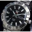 SEIKO SEIKO5Sports セイコー5スポーツ ファイブスポーツ 自動巻 メンズ腕時計 メタルベルト ブラック文字盤 SRPA51K1 海外モデル