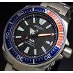 SEIKO PROSPEX セイコー プロスペックス ダイバーズ パディコラボ サムライ 自動巻 メンズ腕時計 メタルベルト ネイビー/レッドベゼル 海外モデル SRPB99K1
