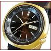 SEIKO セイコー オートマチック 自動巻 メンズ腕時計 ゴールドケース ブラウンレザーベルト ブラウン文字盤 MADE IN JAPAN海外モデル SRPC16J1