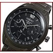 SEIKO セイコー クロノグラフ メンズ腕時計 ブラックメタルベルト ブラック文字盤 SSB093P1 海外モデル