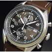 SEIKO セイコー クロノグラフ メンズ腕時計 ブラウンレザーベルト ダークブラウン文字盤 海外モデル SSB275P1