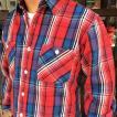 ネルシャツ ヘビーネルシャツ 厚手 ワーキング ワーク チェック シャツ ヘビーネルシャツ アメカジ メンズ 長袖 Flannel shirt フランネル RED 赤 レッド