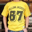 別注 チャンピオン Champion BUDDY別注 ショートスリーブフットボールシャツ YELLOW JACKETS #67 アメカジ S/S ランタグ 半袖