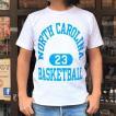 別注 チャンピオン リバースウィーブ Tシャツ 18SS BUDDY別注 Champion REVERSE WEAVE Tシャツ C3-X301  白 ホワイト 半袖 NORTH CAROLINA BASKET BALL 23