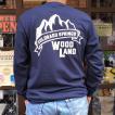 コロラド スプリングス BUDDYオリジナル WOODLAND COLORADO SPRINGS ポケット付き ロングスリーブTシャツ GILDAN CAMP USA アメリカ国立公園 アウトドア