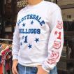ロンT ロングスリーブTシャツ BUDDY オリジナル SCOTTSDALE BULLDOGS GILDAN ブルドッグス USA ホワイト アメカジ 長袖 ロングTシャツ