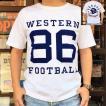 Champion 別注 チャンピオン アメリカ製 白 Tシャツ T1011 MADE IN U.S.A. Tシャツ BUDDY別注 WESTERN FOOTBALL 86 ティーテンイレブン ホワイト WHITE アメカジ