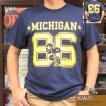 スヌーピーTシャツ PEANUTS MICHIGAN #86 BUDDY 別注 SNOOPY ピーナッツ アメリカンフットボール アメフト 70's SCHULZ ネイビー 紺 シュルツ