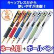 シャチハタ ネームペン キャップレスS  カラー軸 別注品 印鑑付きボールペン