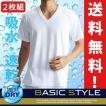 2枚組/BVD Vネック半袖Tシャツ/吸水速乾/アンダーウェア/メンズ/無地/B.V.D.BASIC STYLE/クールビズ