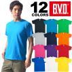 BVD 12色ポップカラー クルーネック半袖カラーTシャツ/綿100%/コットン/メンズ