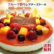 フルーツ彩りレアチーズケーキ (誕生日ケーキ バースデーケーキ スイーツ ギフト Birthday cake)