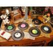 レコードコースター 6枚セット ■ アメリカン雑貨 アメリカ雑貨 おもしろ雑貨 グッズ  音楽雑貨 音楽グッズ PUBグッズ BAR