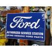 アメリカンブリキ看板 フォードのクラシックロゴのブリキ看板 アメリカ雑貨 アメリカン雑貨 サインプレート ティンサインボード