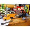 マイスト ハーレーダビッドソンのコンボイトレーラーのミニカー 1/64スケール(オレンジヘッド) アメリカ雑貨 アメリカン雑貨