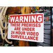 アメリカのプラスチックサインボード ヘビーオンスタイプ(24時間監視中) アメリカ雑貨 アメリカン雑貨