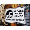 アメリカのプラスチックサインボード ヘビーオンスタイプ(手を洗いましょう) アメリカ雑貨 アメリカン雑貨