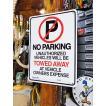 アメリカのプラスチックサインボード ヘビーオンスタイプ(駐車禁止) アメリカ雑貨 アメリカン雑貨
