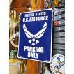 アメリカのプラスチックサインボード ヘビーオンスタイプ(米空軍専用駐車場) アメリカ雑貨 アメリカン雑貨