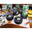 グッドイヤーのレーシングタイヤコースター 4個セット アメリカ雑貨 アメリカン雑貨