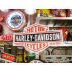 ハーレーダビッドソンのビッグサイズ看板(バー&シールド) アメリカ雑貨 アメリカン雑貨 インテリアおしゃれな部屋 世田谷ベース ウッドサイン