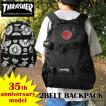 スラッシャー リュック THRASHER 送料無料 バッグ 限定 35周年 バックパック 黒 ブラック テキスタイル ロゴ 通学 通勤 大容量 メンズ レディース THR35TH-501