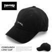 スラッシャー キャップ THRASHER cap 送料無料 帽子 GONZ ゴンズ マグ コーデュロイ LOWキャップ ローキャップ キャップ ブラック がんちゃん メンズ レディース
