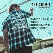 クライミー イタリアンカラー チェック半袖シャツ CRIMIE  ITALIAN COLLAR CHECK SHORT SLEEVE PRINT SHIRT
