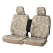 ボンフォーム サイドエアバッグ対応 撥水加工 ニット素材 シートカバー リーフスタイル フロント:バケットシート&軽ベンチシート兼用 2枚セット ベージュ/BE