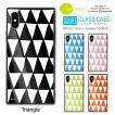 see design(TM) スクエアガラスケース iPhone11対応 シーデザイン 正規品 四角 スクエア型 強化ガラス ブラック ブルー ピンク オレンジ グリーン 北欧テイスト