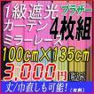 1級遮光カーテン・ブラザーとミラーレース 巾100cm×丈135cm (レースは133cm)4枚組