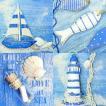 Ambiente オランダ ペーパーナプキン LOVE AT SEA 13308365 バラ売り2枚1セット デコパージュ ドリパージュ