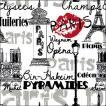 Ambiente オランダ ペーパーナプキン Parisian Neighborhoods Black 13309830 バラ売り2枚1セット デコパージュ ドリパージュ