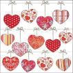 Ambiente オランダ ペーパーナプキン Hearts On Wire 13310145 バラ売り2枚1セット デコパージュ ドリパージュ