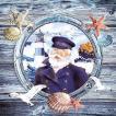 Ambiente オランダ ペーパーナプキン キャプテン Captain 13310340 バラ売り2枚1セット デコパージュ ドリパージュ