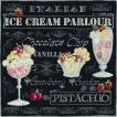 1枚バラ売り25cmペーパーナプキン Ambiente オランダ アイスクリーム Ice Cream Black 12508955 紙コースター デコパージュ ドリパージュ