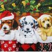 Ambiente オランダ ペーパーナプキン クリスマスを喜ぶ子犬達 Doggies 33305090 バラ売り2枚1セット デコパージュ ドリパージュ