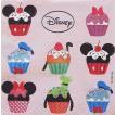 1枚バラ売りペーパーナプキン ディズニー Disney カップケーキ 紙ナフキン 3枚重ね デコパージュ ドリパージュ