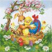 HOME FASHION ドイツ ペーパーナプキン Easter Friends 2枚 211111 デコパージュ ドリパージュ