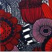1枚バラ売りペーパーナプキン マリメッコ Marimekko 2019秋冬 SIIRTOLAPUUTARHA 赤ピンク 33x33cm ランチサイズ 北欧 553940 ドリパージュ デコパージュ