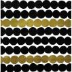 1枚バラ売りペーパーナプキン マリメッコ Marimekko 2019春夏 RASYMATTO black gold 33x33cm ランチサイズ 北欧 589379 ドリパージュ デコパージュ