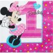 1枚バラ売り25cmペーパーナプキン ミニーマウス Disney ディズニー アメリカ製 MADE IN USA 2枚重ね 紙コースター デコパージュ ドリパージュ 501834