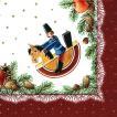 Paper+Design ドイツ ペーパーナプキン クリスマス Reiterlein バラ売り2枚1セット L-60671 デコパージュ ドリパージュ