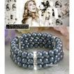 パール ブレスレット 黒真珠 ブライダル パーティ アールデコ サラ ジェシカ パーカー コレクション